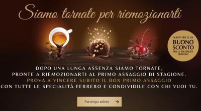 Buono sconto Ferrero da € 1 e concorso